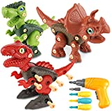 Ranphykx Take Apart Dinosaur Toys for Kids Building Toy Set with Electric Drill Construction Engineering Play Kit Stem Learning for Boys Girls Age 3-12 Years Old Kids Toys Gifts