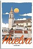 LGHLJ Cuadros Decoracion Poster de Viaje de Estilo Vintage de Huelva, póster de Pintura Decorativa, Cuadro de Lienzo Moderno Decorativo 40x60cm x1 Sin Marco