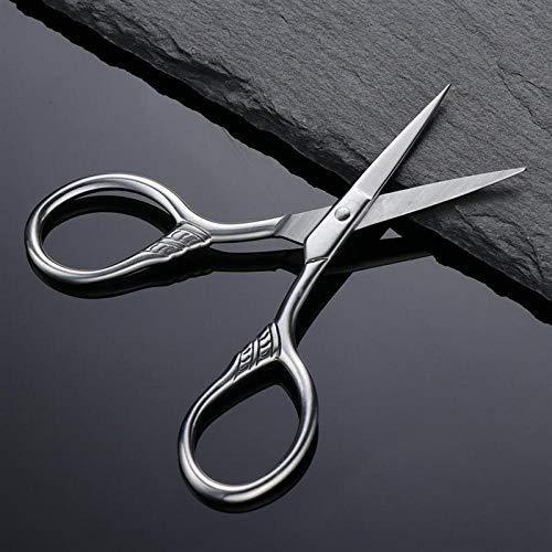 Edelstahl Maniküreschere Bartschneider Herren Schnurrbart Schere Nase Haar Schere Cutter für Haushaltsschere