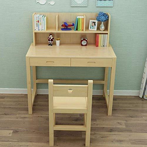 Mesa para niños Mesa elevadora para niños Escritorio ajustable Mesa de estudio combinada Mesa de computadora de madera maciza Mesa de estudio simple para niños Mesa de actividades (Color: Na