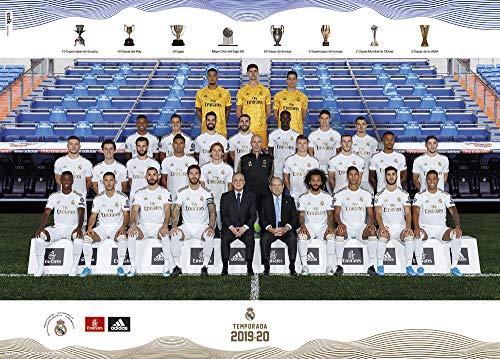 Grupo Erik Équipe du Póster Real Madrid 2019/2020 Plantilla, 50 x 70 cm