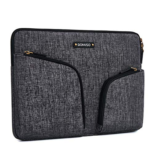 DOMISO 10.1' Waterproof Laptop Pouch Bag with Back Handle Tablet Case Sleeve for 10.1-10.5 Inch Laptops/Kids Tablet / 9.7' iPad Pro / 10.1' Lenovo Tab 4 Plus/Asus/Acer/HP, Dark Grey