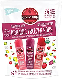 Goodpop, Freezer Pops Variety Organic, 42.96 Ounce