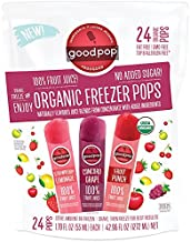 Goodpop Organic Freezer Pops No Sugar Added Variety 24 Count – 1.79 oz pops