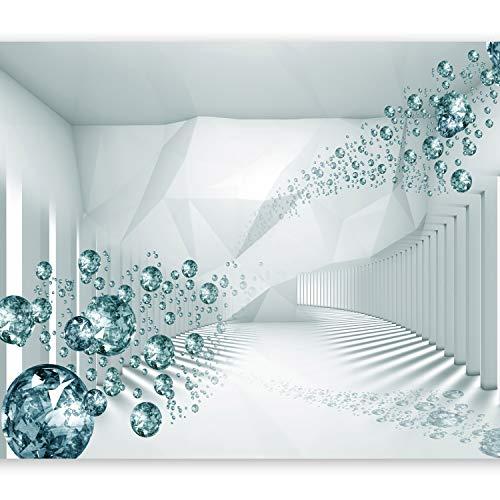 murando Papier peint intissé 250x175 cm Décoration Murale XXL Poster Tableaux Muraux Tapisserie Photo Trompe l'oeil abstraction Diamant optique a-A-0188-a-d