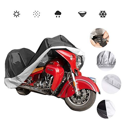 HWHCZ Motorradabdeckungen Motorrad-Abdeckung/Fahrradabdeckung, kompatibel mit dem Motorrad Abdeckung Rokon, verdickte 210D Oxford wasserdichte Sunproof Fahrradabdeckung