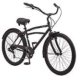Schwinn Huron Adult Beach Cruiser Bike, Featuring 17-Inch/Medium Steel Step-Over Frames, 7-Speed...