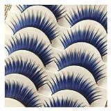 Faux cils 5 Paires De Bleus, Maquillage Nude Naturel Longs Cils Doux épais, Super Beau