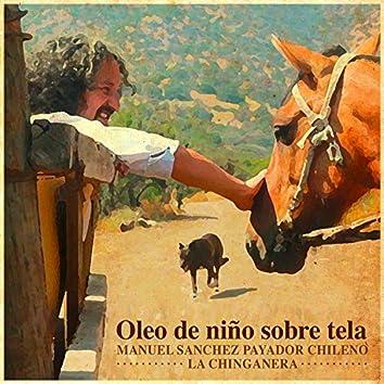 Oleo de niño sobre tela (feat. La Chinganera)