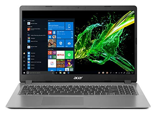 "2020 Newest Acer Aspire 3 15.6"" FHD 1080P Laptop Computer, Latest Intel Core i5-1035G1 Quad-Core Processor up to 3.6 GHz, 8GB DDR4 RAM, 256GB SSD, HDMI, Wi-Fi, Webcam, Windows 10 Home + Oydisen Cloth"