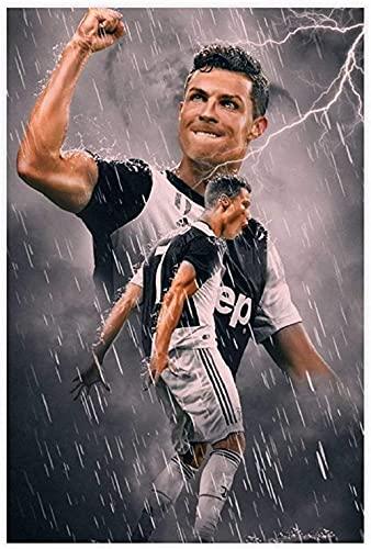 Lienzo De Impresión 60 * 90cm Sin Marco Jugador Cristiano Ronaldo Póster deportivo Decoración de dormitorio Oficina de deportes Decoración de habitación Regalo