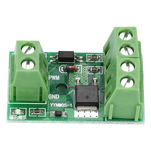 Módulo controlador PWM MOS FET, módulo PWM FET, módulo controlador MOS FET Placa de control de interruptor PWM de alta potencia 3-20 V a 3,7-27 V CC 10 A
