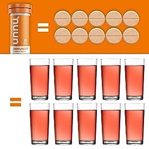 Nuun Immunity: Immune Support Hydration Supplement, Electrolytes, Antioxidants, Vitamin C, Zinc, Turmeric, Elderberry, Ginger, Echinacea - Blueberry Tangerine + Orange Citrus - 4 Tubes (40 Servings) #4