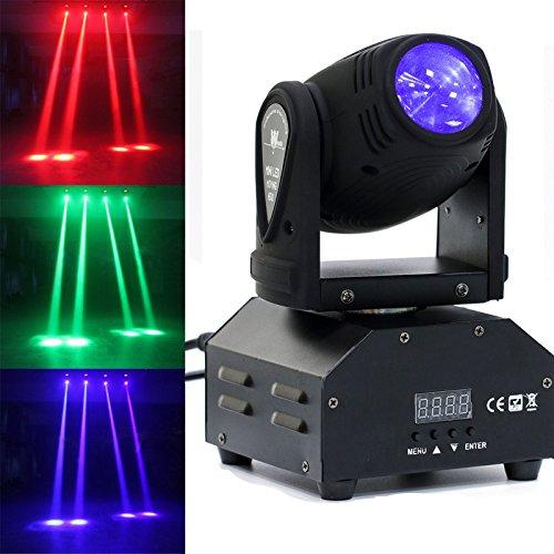 Moving Head LED Strahl Bühnenlicht Scheinwerfer Lichteffekt DMX512 Sound Master-Slave für Partylicht Disco DJ Club Show Bar Hochzeit Halloween Weihnachten (50W)