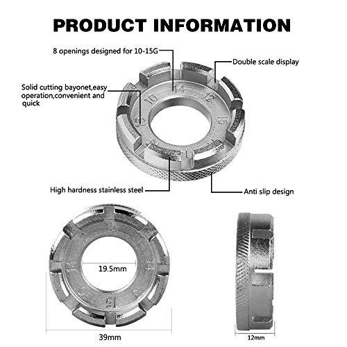 SUNANFBEST Speichenspanner, Nippelspanner Spanschlüssel mit Reifenheber Speichenschlüssel Fahrradwerkzeuge für Speichen Größe 10-15 Fahrrad reparieren - 4