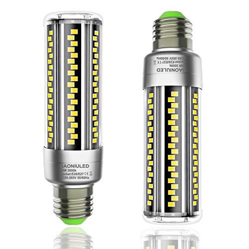 2 Pack, 20W Super Bright Corn LED Light Bulb 3000K Warm White 2500 Lumens Equivalent 200W Incandescent Bulbs,E26 E27 Medium Base - for Garage Warehouse Porch Yard
