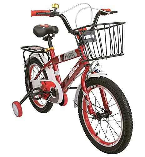 Airel Bicicletta | Bicicletta con Rotelle e Cestino | Biciclette per Bambini | Bici Bimbo | Bicicletta per Bambini 16 e 18 Pollici | Bicicletta per Bambini 4-7 Anni | Colore: Rosso Pollici: 16