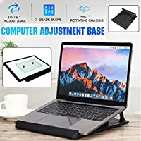 360° Rotate Laptop Stand 7 Height Adjustable Computer Drawing Board Holder Base Folding Bracket ABS Engineering Plastics