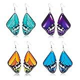 S-TROUBLE 4 Paires acryliques Papillon Volant balancent Boucles d'oreilles kit Insecte Bijoux de Mode