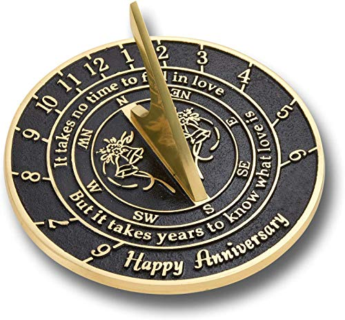 NauticalMart Sundial Clock Wedding Anniversary Sundial Gift Collectible Antique
