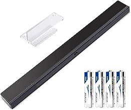 KIMILAR Inalámbrico Barra De Sensor Compatible con Nintendo Wii / Wii U Barra de Sensores de Infrarrojos con 4 * AAA Pilas y 1 Soporte Transparente, [Video Game] -Negro [video game]