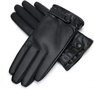 暖かい秋と冬を保つためにメンズ革手袋のタッチスクリーンメンズ自転車厚いぬいぐるみ手袋 (サイズ さいず : L21*8.9cm)