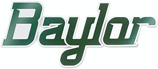 Nudge Printing NCAA University Script Logos Vinyl Car Decal Window Sticker (Baylor University)