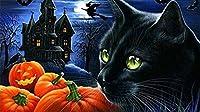 ハロウィン黒猫500ピースジグソーパズル 木製ジグソー脳チャレンジ