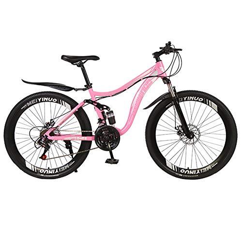 Adulto Bici Da Strada Bike Da Montagna,RNNTK Freno A Doppio Dischi Flessibile Agile.MTB Per Adulti Uomini E Donne,Una Varietà Di Colori Auto In Acciaio Al Carbonio T -21 Velocità -26 Pollici