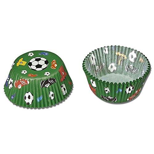 Staedter 50 Stück Papier-Backblech Maxi Fußball, grün, 30 x 5 x 3,2 cm