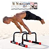 Rubberbanditz Parallettes Push Up & Dip Bars | Heavy Duty, Non-Slip Parallete Stand for Crossfit, Gymnastics, & Bodyweight Training Workouts