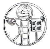 Brosche aus 925er-Sterlingsilber, Design von Charles Rennie Mackintosh - Größe: 29mm, 6gRunde Silberbrosche in Premiumqualität und mit Geschenkbox, 9104/HN.