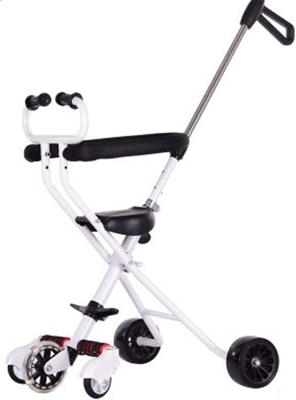 LIWORD Trolley Der Kinder Mit Bremsen Hilfsrad, Verbreitertes Dreirad des Off-Roadrad-Faltbaren Kindes