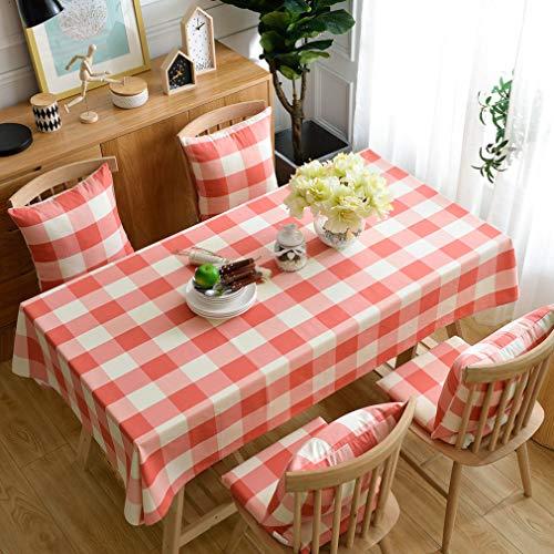 Pahajim Estilo Minimalista Moderno Mantel Antimanchas Enrejado Mantel Antimanchas Rectangular Mantel Cocina Rectangular(Rectangular/Oval,140x260cm)