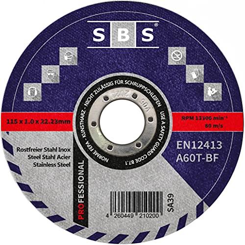SBS–schlößer baustoffe–disco di taglio (Acciaio inossidabile, 50pezzi, 115x 1mm)