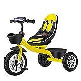 YUMEIGE Bicicletas Triciclos, Titanio Vacío de Ruedas, chasis de Acero al Carbono, Triciclo niño y niña, Cinco Puntos del cinturón de Seguridad, vehículos de Tres Ruedas, Bicicletas Infantiles, 6 Me