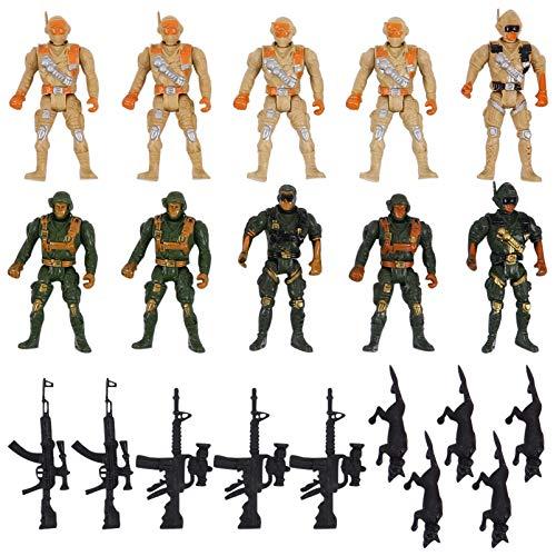 TOYANDONA 10 Piezas de Figuras de Acción de Soldados Hombres de Juguete con Accesorios Figuras de Acción de Soldados Swat para Niños Niñas Niños Soldados Juego de Juguete Estilos Y Colores