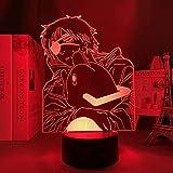 Lámpara de decoración de ilusión de luz de noche Led 3D para niños Anime motosierra hombre para dormitorio niños cumpleaños Manga cabecera