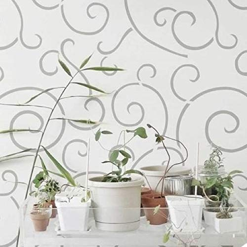 Spiral Scroll Wall and Floor Stencil