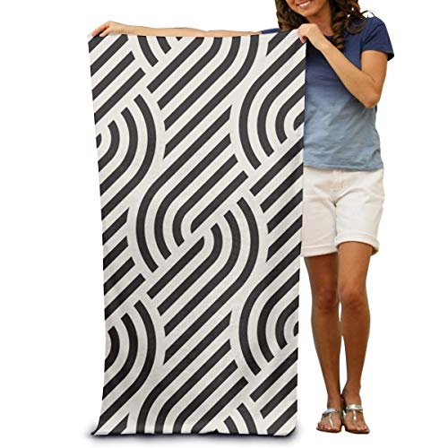"DOKEVFOB Modern Stylish Abstract Texture Microfiber Beach Towel -Ultra Soft Super Water Absorbent Multi-Purpose Beach Throw Towel Oversized 32"" X 51"""