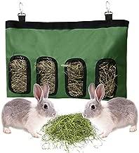 Rabbit Feeder Bunny Guinea Pig Hay Feeder Bag, Hay Guinea Pig Hay Feeder, Rabbit Feeder Fabric Bag Chinchilla Plastic Food Bowl Feeder Storage Bag (Green)
