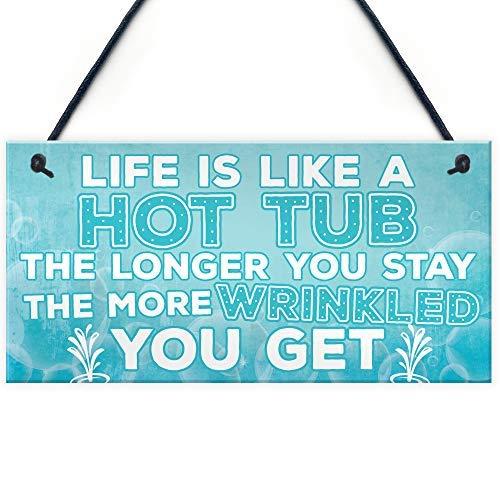 SIGNS Life Is Like A Whirlpool, lustiges Geburtstagsgeschenk, zum Aufhängen, Gartenhütte, Sommerhaus, Pool, Whirlpool
