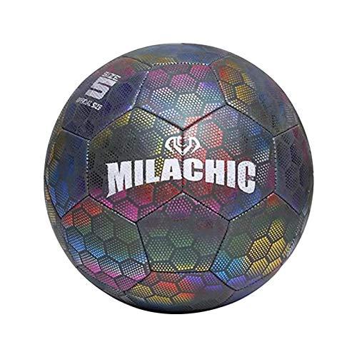 Dough.Q LED Leuchtfußball - Offizielle Größe 4 - LED's für Spaß im Dunkeln - Ideal für Klein & Groß - Leuchtfussball, Leuchtball Kinder, Fussball