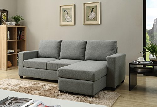 NHI Express Alexandra 73022-40GY Convertible Sectional Couch