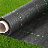 Geotextile Fabric - Weed Barrier - Landscape Fabric - Ground Cover - Weed Control - Garden Fabric - Garden Barrier - Block Fabric - Barrier Fabric - Soil Erosion Landscape Barrier - 4 Ft X 250Ft Black