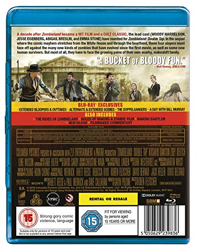 Zombieland: Double Tap [Blu-ray] [2019] [Region Free]