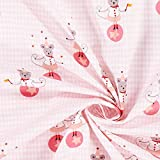 1/2Meter–Pink Jonglieren Mäuse 100% Baumwolle