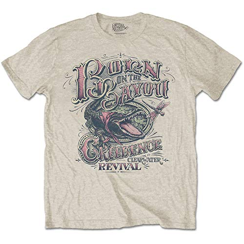 Rock Off Creedence Clearwater Revival Born in The Bayou Ufficiale Uomo Maglietta Unisex (Medium)