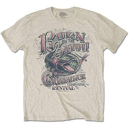 Rock Off Creedence Clearwater Revival Born in The Bayou Ufficiale Uomo Maglietta Unisex (Small)