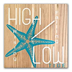 OldBleu Tide Clock Timer - Handmade - Nautical - Beach Lover - Coastal Starfish